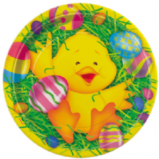 8 Easter Ducky Paper Party Plates